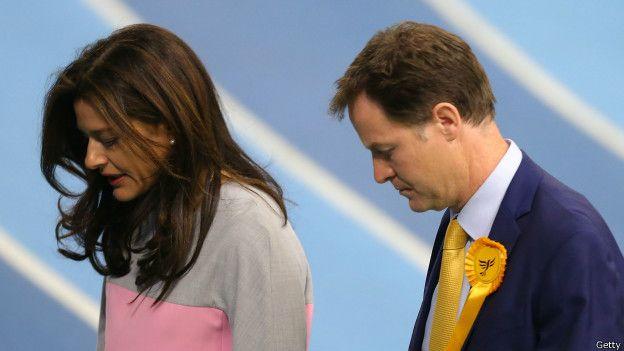 Nick Clegg y su esposa