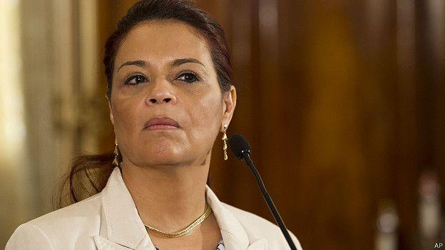 Roxana Baldetti, vicepresidenta de Guatemala, y el mandatario Otto Pérez Molina