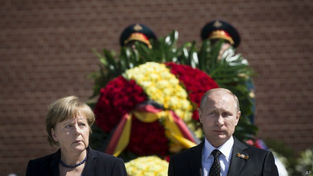 Маркель и Путин