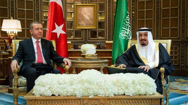 ملک سلمان و رجب طیب اردوغان
