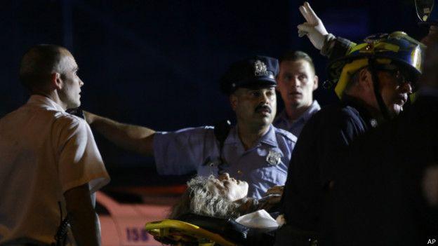 Один из пострадавших при крушении поезда в США