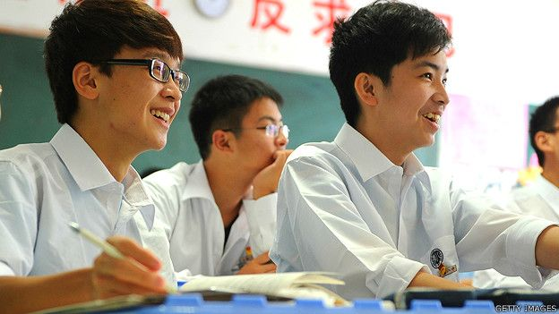 Estudiantes de secundaria en China
