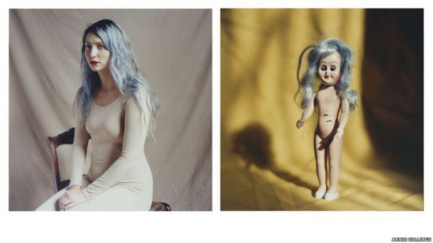 fotos, nueva york, modelos, desconocidas, muñecas, Annie Collinge