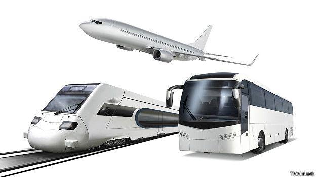 Виды транспорта: самолет, поезд, автобус