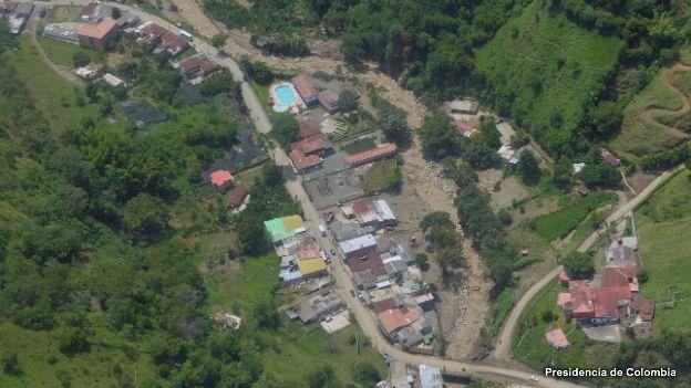 Imagen aérea de la zona afectada