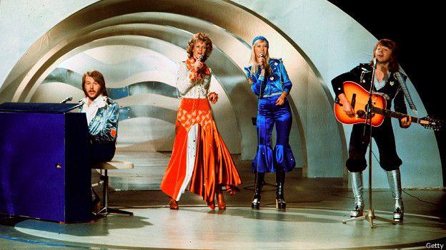 Выступление АББА в 1974 г.