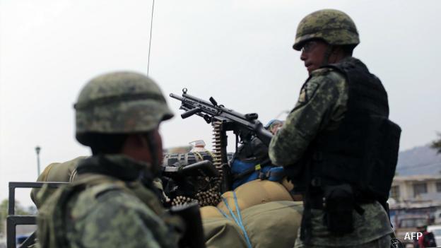 Militares en Chilapa, Guerrero