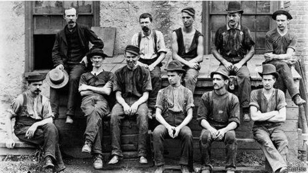 Unos vaqueros a finales del siglo XIX