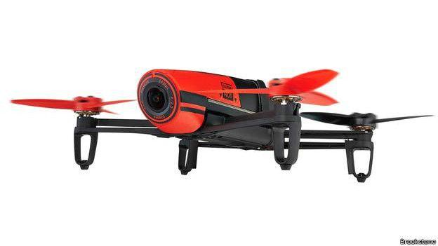 Un dron cuadricóptero