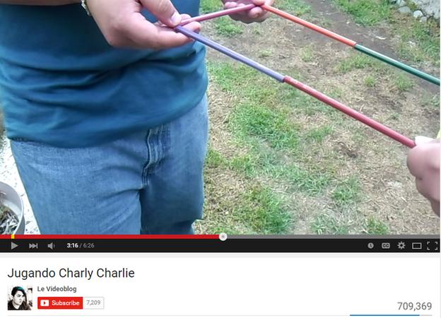 Video en YouTube sobre el juego del lápiz