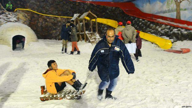 Parque de nieve en Ahmedabad