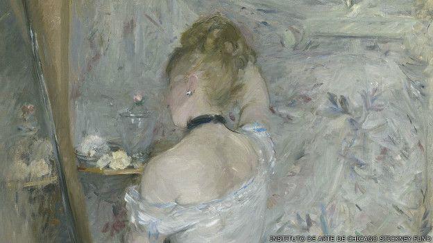 Mujer en su toilette, de Berthe Morisot.
