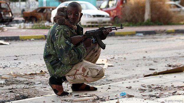 Беспорядки на улицах африканского города