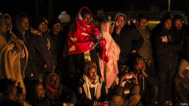 Refugiados africanos em Israel | Foto: Getty