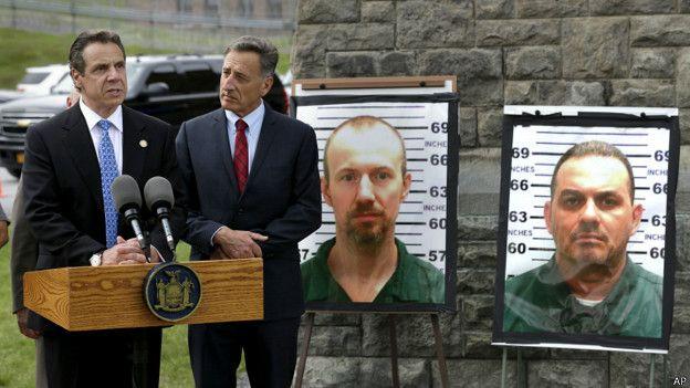 búsqueda de fugitivos de la cárcel de Dannemora, Nueva York