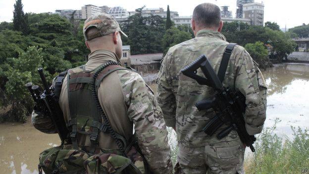 Fuerzas especiales en Tiflis, Georgia