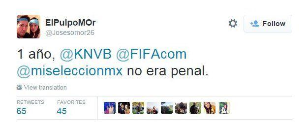 Tuit de aficionado mexicano