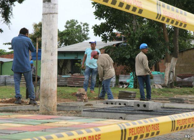Obra pública en construcción