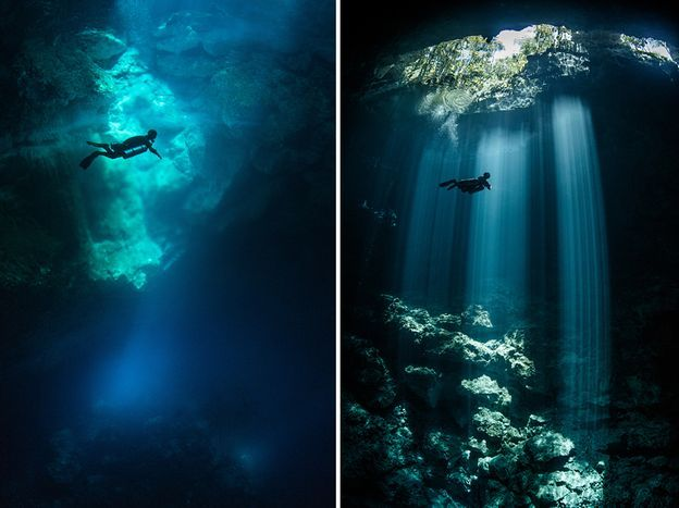 Cuevas submarinas en México