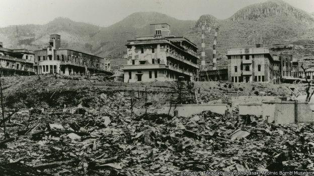 日本纪念二战长崎原爆70周年