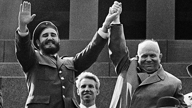 Fidel Castro y Nikita Krushchev