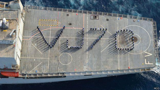 Корабль ВМС Великобритании Fort Victoria