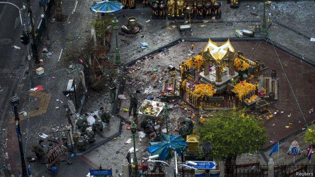 Взрыв прогремел у индуистского храма Эраван в центре Бангкока