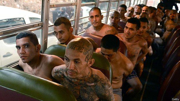 Mareros en El Salvador
