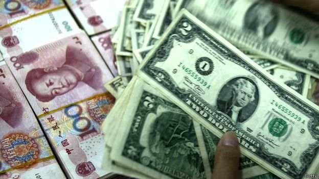 Nhân dân tệ và đồng đô la Mỹ