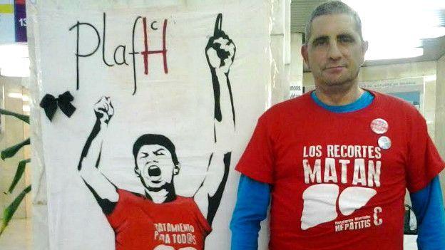 Mario Cortés, presidente de la plataforma de afectados por la hepatitis C en España