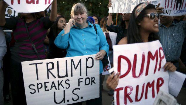 A favor y en contra de Trump