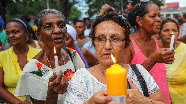 Ceremonia en Cuba
