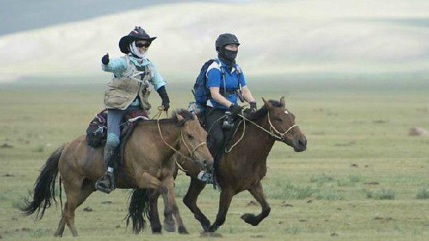 Byeronie Epstein en el Mongol Derby