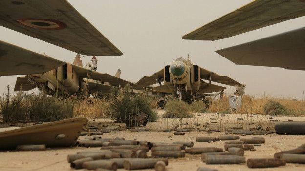 Захваченная сирийская авиабаза Абу-Дахур