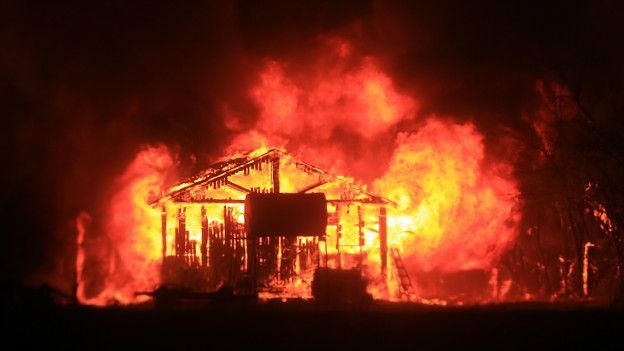 Incendio en Middletown, California
