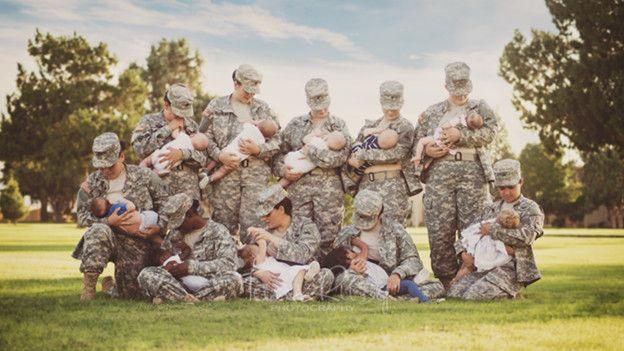 Фото кормящих матерей в армии разрушает стереотипы