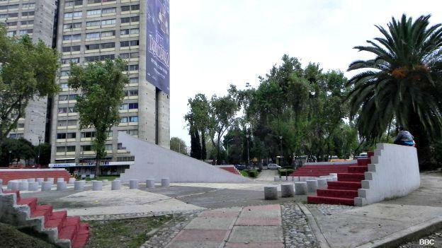 En este lugar estuvo el edificio Nuevo León, que se derrumbó en el sismo de 1985 en Ciudad de México.