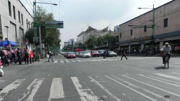 Avenida Eje Central en Ciudad de México.