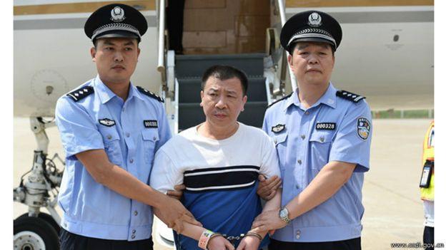 2015年9月,美国向中国遣返首名红色通缉令上的嫌疑人杨进军。