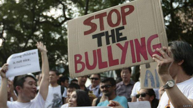 Protesta contra el acoso