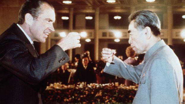 Tổng thống Mỹ Richard Nixon và Thủ tướng Trung Quốc Chu Ân Lai năm 1972