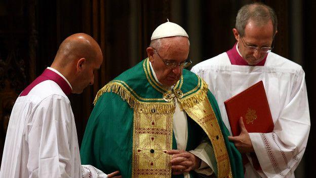 El papa Francisco en la catedral de San Patricio