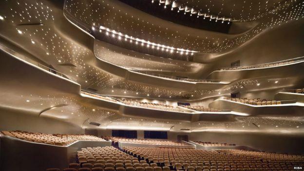 Sala de Ópera de Guangzhou, China. RIBA