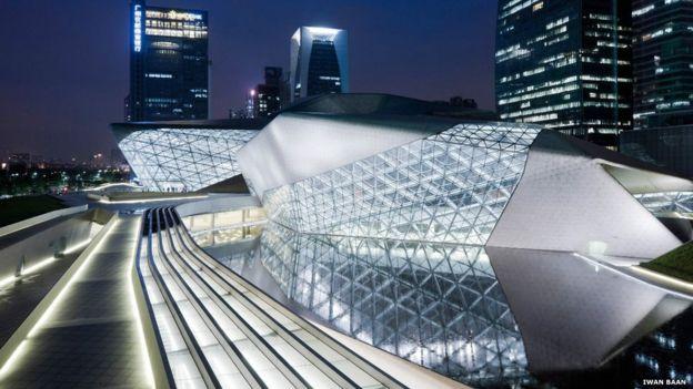 Exterior de la sala de Ópera de Guangzhou, China. Iwan Baan