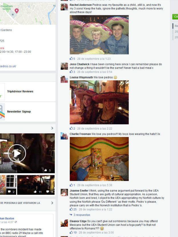 Página de Facebook de Pedro's