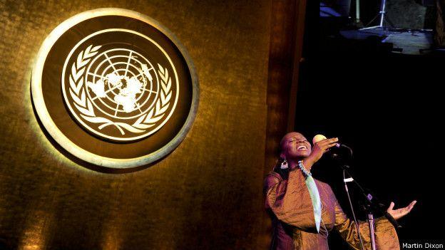 Ceremonia de lanzamiento de la iniciativa en la ONU