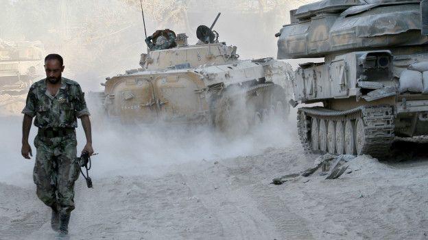 Сирия, солдат оппозиции режиму Асада