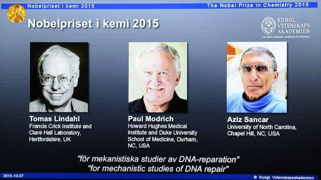 Лауреаты Нобелевской премии по химии в 2015 году