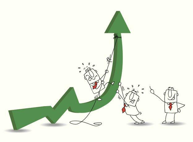 Рисунок рост процента и три фигуры