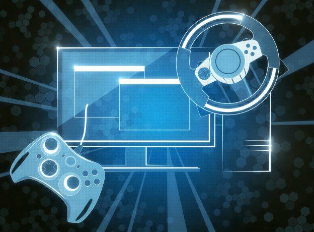 Экран компьютера с игровой приставкой